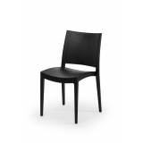 Catering folding chair POLY 7 black